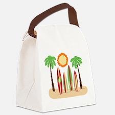 Surf Boards Beach Canvas Lunch Bag