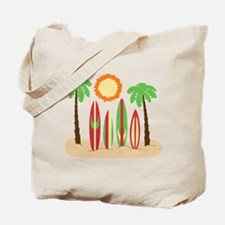 Surf Boards Beach Tote Bag