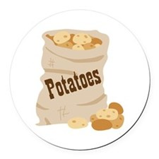 Potatoes Round Car Magnet