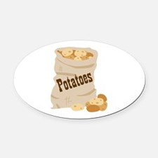 Potatoes Oval Car Magnet