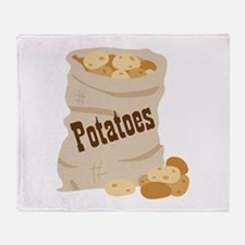 Potatoes Throw Blanket