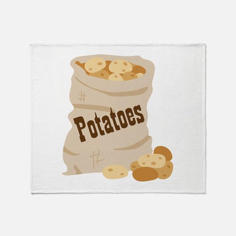Potatoes Throw Blanket