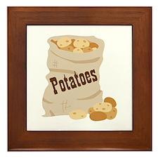 Potatoes Framed Tile