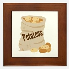 Potatoes Framed Tile
