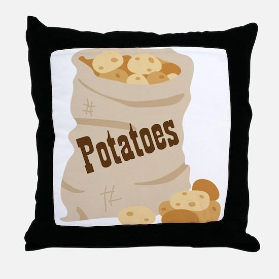 Potatoes Throw Pillow