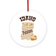 IDAHO Potatoes Ornament (Round)