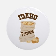 IDAHO Potatoes Ornament (Round)