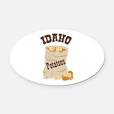 IDAHO Potatoes Oval Car Magnet