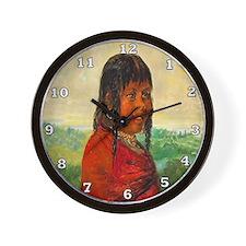 Choctaw Girl Wall Clock