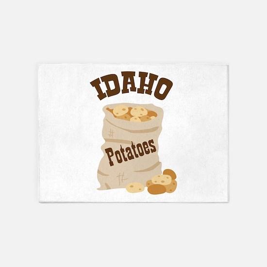 IDAHO Potatoes 5'x7'Area Rug
