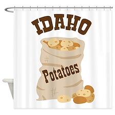 IDAHO Potatoes Shower Curtain