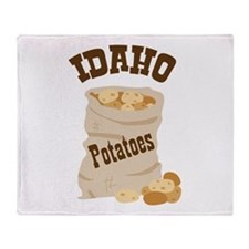 IDAHO Potatoes Throw Blanket