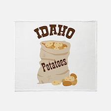 IDAHO Potatoes Throw Blanket