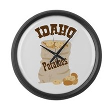 IDAHO Potatoes Large Wall Clock