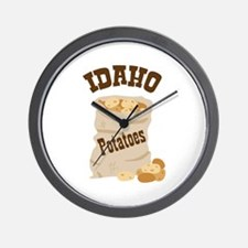IDAHO Potatoes Wall Clock