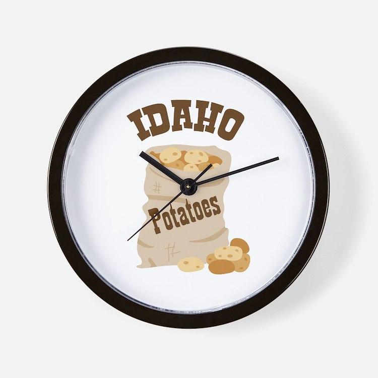 IDAHO Potatoes Wall Clock