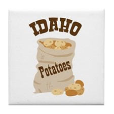 IDAHO Potatoes Tile Coaster