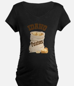 IDAHO Potatoes Maternity T-Shirt