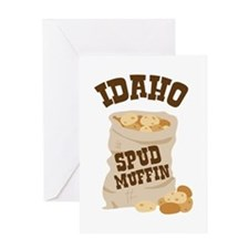 IDAHO SPUD MUFFIN Greeting Cards