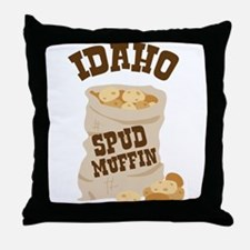 IDAHO SPUD MUFFIN Throw Pillow
