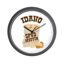 IDAHO SPUD MUFFIN Wall Clock