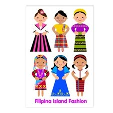 Filipina Island Fashion Postcards (Package of 8)