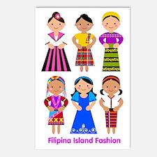 Filipina Island Fashion Postcards (Package of 8)