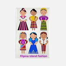 Filipina Island Fashion Rectangle Magnet