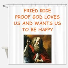 fried rice Shower Curtain