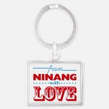 From Ninang With Love Landscape Keychain
