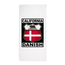 California Danish American Beach Towel