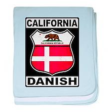 California Danish American baby blanket