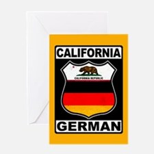 California German American Greeting Cards
