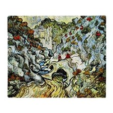 Van Gogh - The Ravine of the Peyroul Throw Blanket