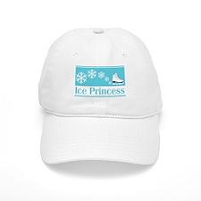 Princess Turquoise Ice Skate Baseball Cap