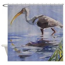 Ibis in Grassy Marsh Shower Curtain