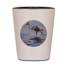Ibis in Grassy Marsh Shot Glass