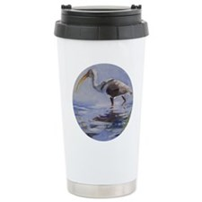 Ibis in Grassy Marsh Travel Mug