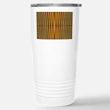 Yellow Gold beaded patt Travel Mug