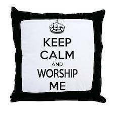 Worship Me Throw Pillow