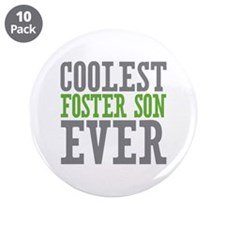 """Coolest Foster Son Ever 3.5"""" Button (10 pack)"""