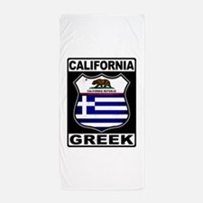 California Greek American Beach Towel