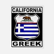 California Greek American Twin Duvet