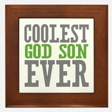 Coolest God Son Ever Framed Tile