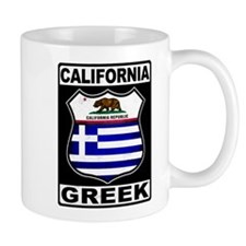 California Greek American Mugs