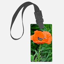 Singel orange poppy flower Luggage Tag