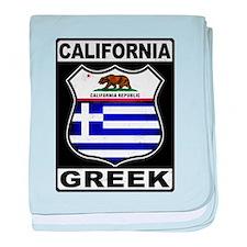 California Greek American baby blanket