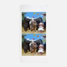 Dachshund Love Beach Towel