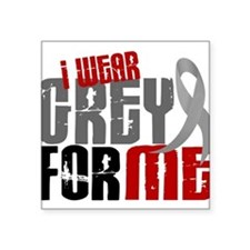 I Wear Grey For Me 6 Oval Sticker