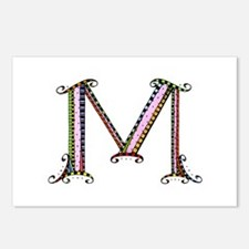 What Fun Monogram M Postcards (Package of 8)